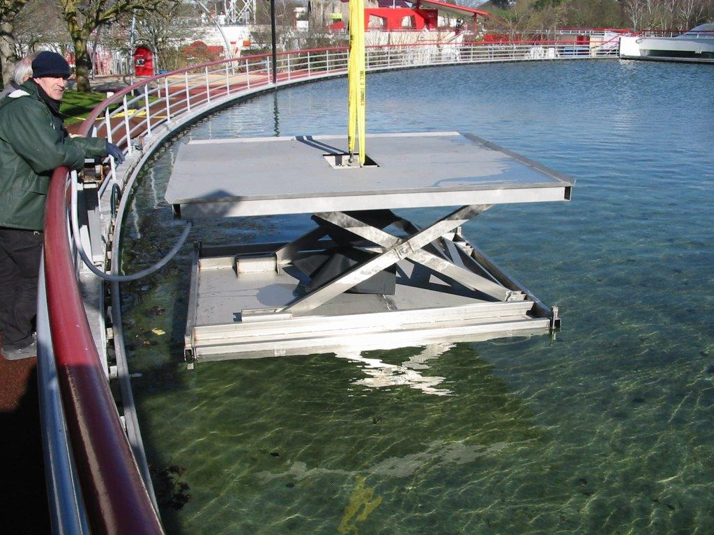 Hydraulic Lift Underwater : Case study to lift a platform weighing kg
